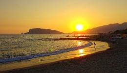 Sunset in Alanya, Turkey