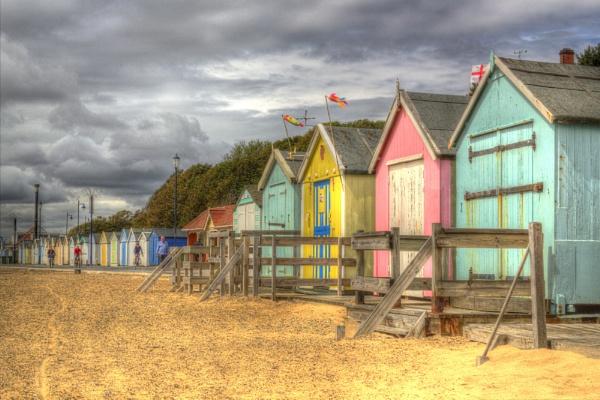 Felixstowe Beach Huts by siduck68