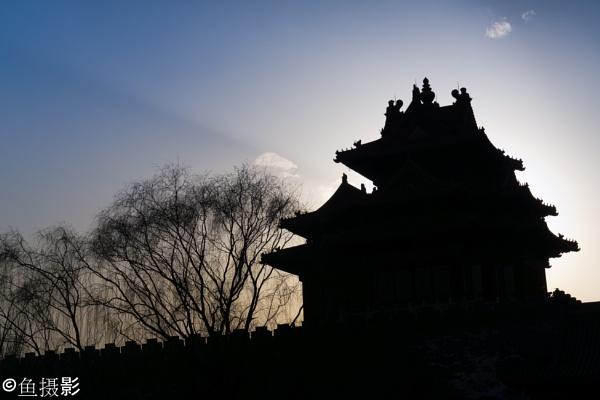 Northeast Watch Tower of the Forbidden Palace Beijing by Benlib