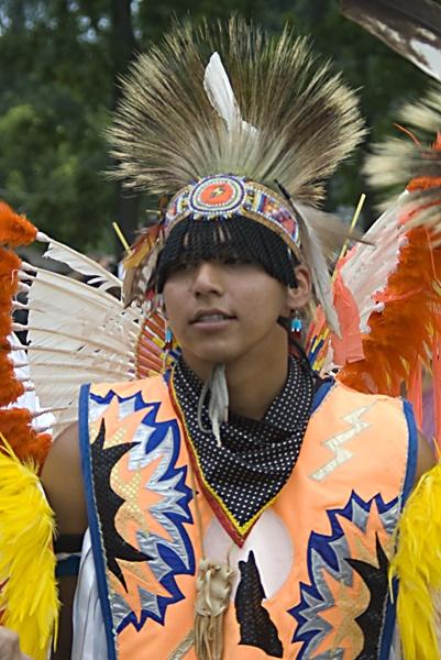 Native in Fancy Regalia at the POWWOW by TimothyDMorton