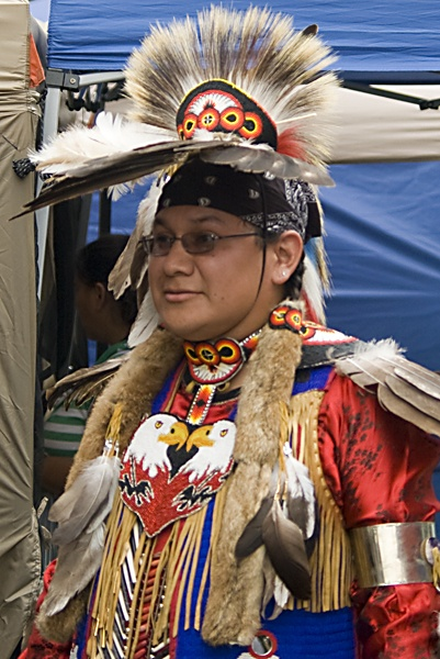 a Native in Regalia at the POWWOW by TimothyDMorton