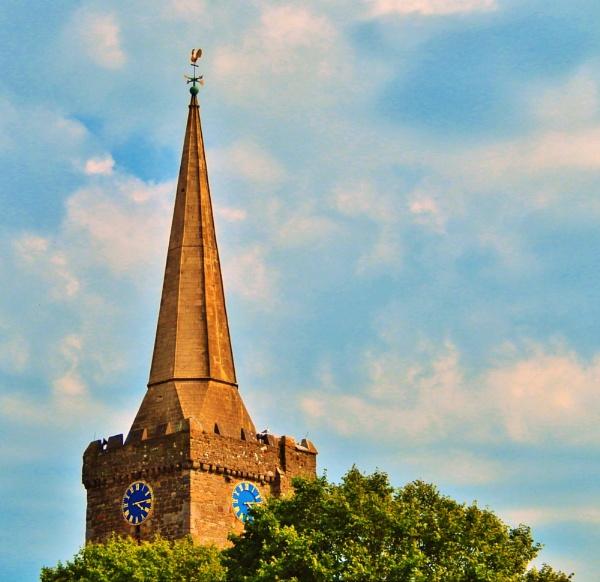 Tenby church clock tower by stu8