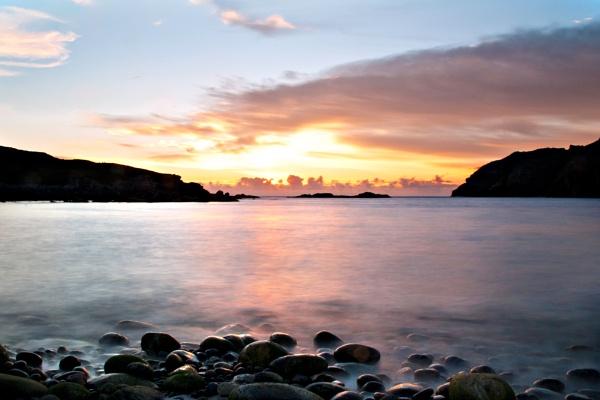 Sunset at Gearannan by sadmurph