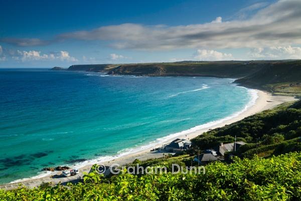 Emerald seas, Sennen Cove - Cornwall by grahamdunn