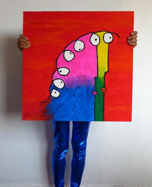 self portrait of a self portrait by AlexandraSD