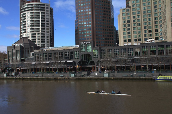 Rowing On The Yarra River Melbourne Aus. by sidestep