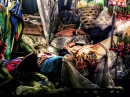 Flower Sellers Sleeping - Downtown Cebu