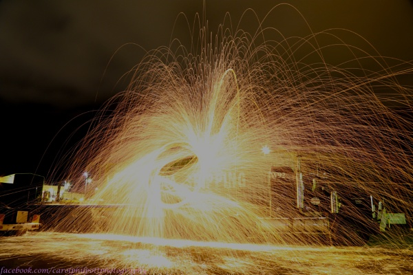 Steel Wool + Whisk + Lighter = Awesome light show by cazozphil
