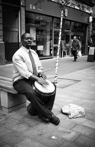 Street Drummer by GeorgeBuchan
