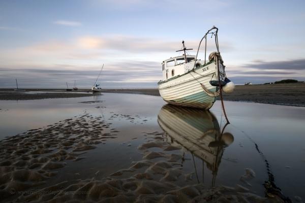 "\""Subtle Late Evening Light\"" (Boats on Meols Estuary) by razorraymac"