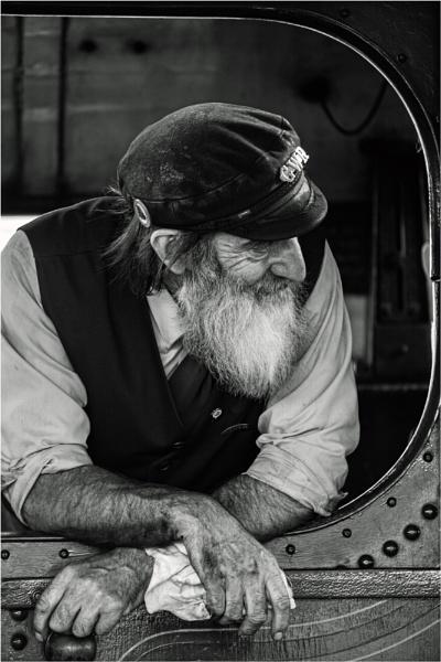 Steam Rail Driver , Somerset Steam Railway (Minehead). by UrbaneMagick