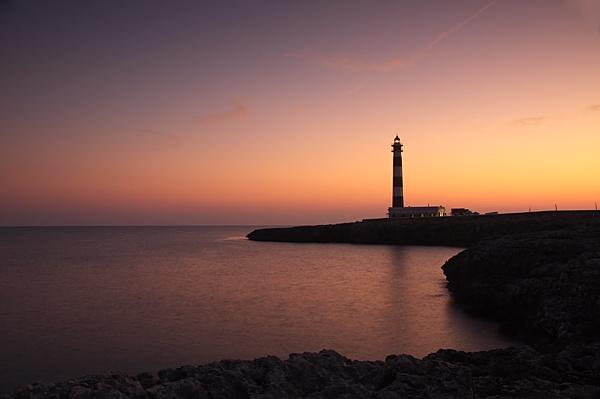The lighthouse at Callabosch Menorca by KevRobo