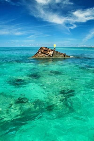 The wreck of the Vixen. Bermuda.