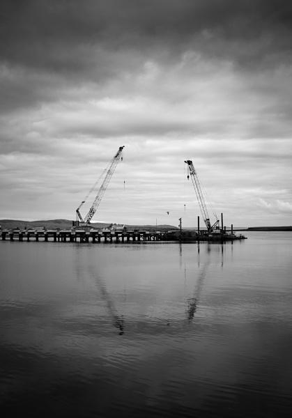 2 Cranes by GeorgeBuchan