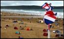 Breezy beach scene