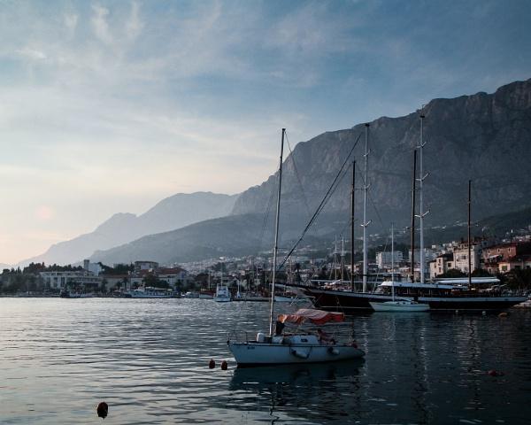 Makarska Harbour, evening light by Wilco54