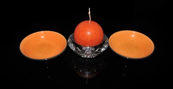 Orange Candle by Kurde