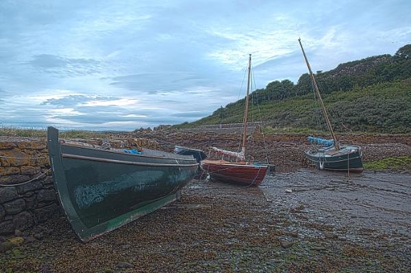 Boats at Portencross by Bickeringbush1