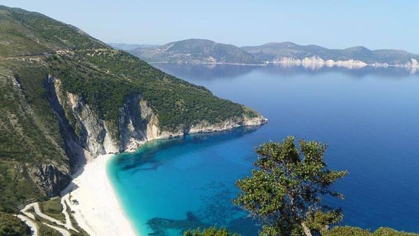 Myrtos Beach by KiriaD