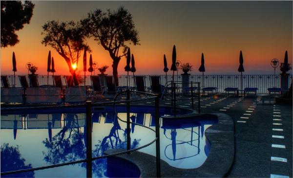 Sunset Pool by dathersmith