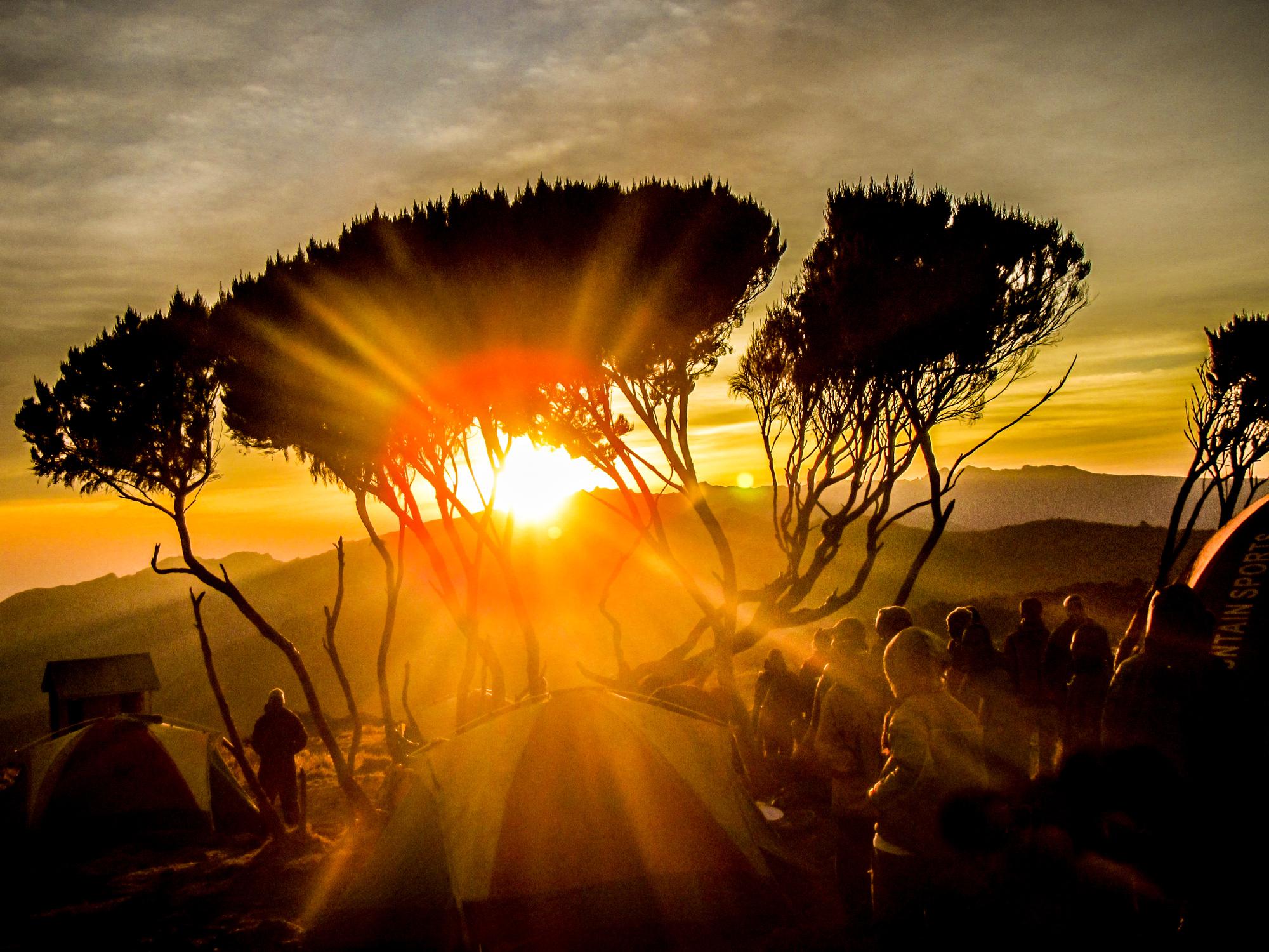 Sundown on Mount Kili