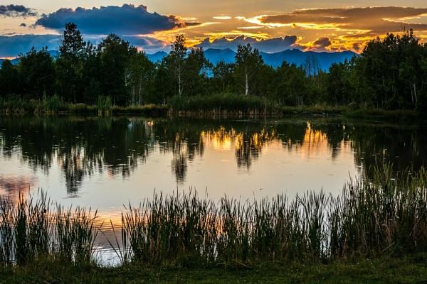 Pond Sunset by ssnidey