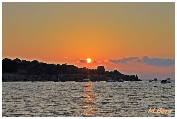 Sunset at Gnejna Bay Malta by Sgtborg