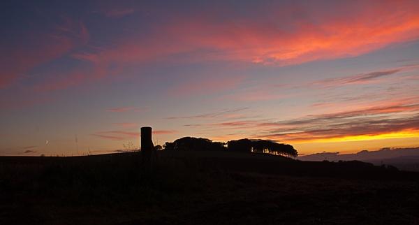 Hillside sunset by moiral