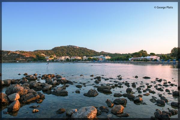 Kathari Beach at Faliraki of Rhodes by GeorgePlatis