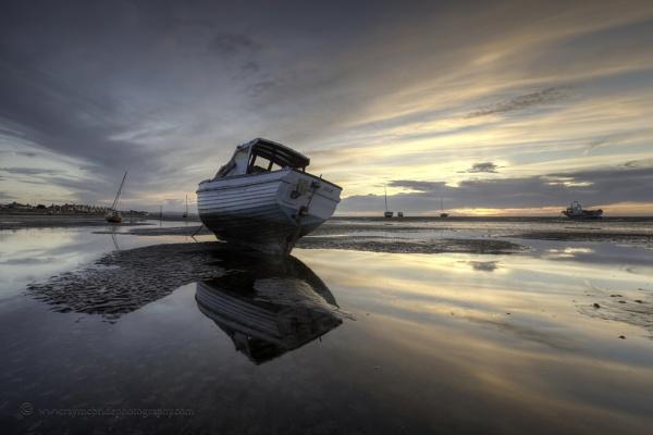 "\""Late Evening Light\""(Sunset on Meol\'s Estuary) by razorraymac"