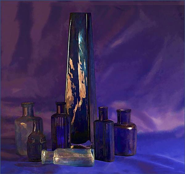 Seven Blue Bottles by Irishkate