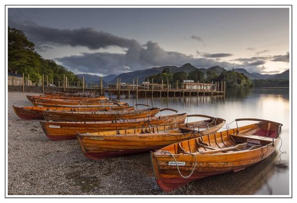 Boats at sunset. by Mactogo