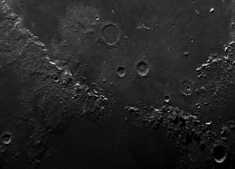 Lunar mosaic. Apennines - mountain range on the moon