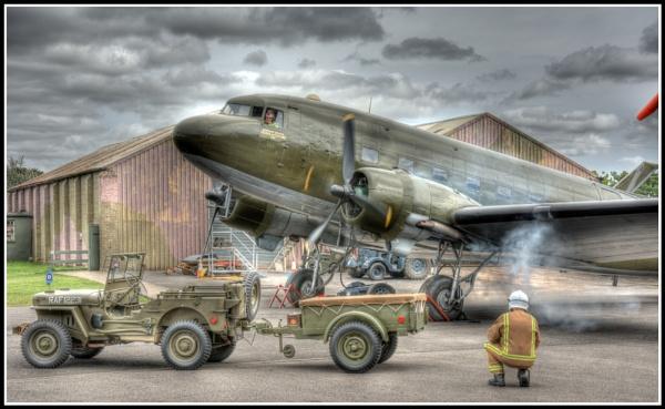 Dakota Starting Up - Elvington Air Museum - York by Westroyd08