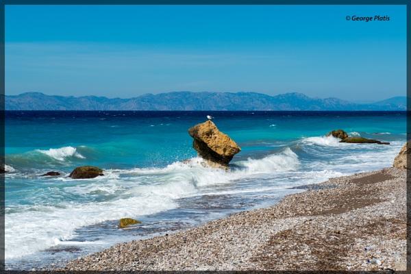 Northern West coast of Rhodes by GeorgePlatis