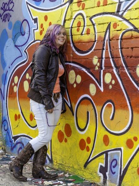 Step daughter on graffiti shoot. by pdunstan_Greymoon