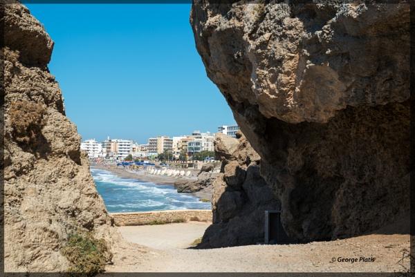 Rock framed Rhodes by GeorgePlatis