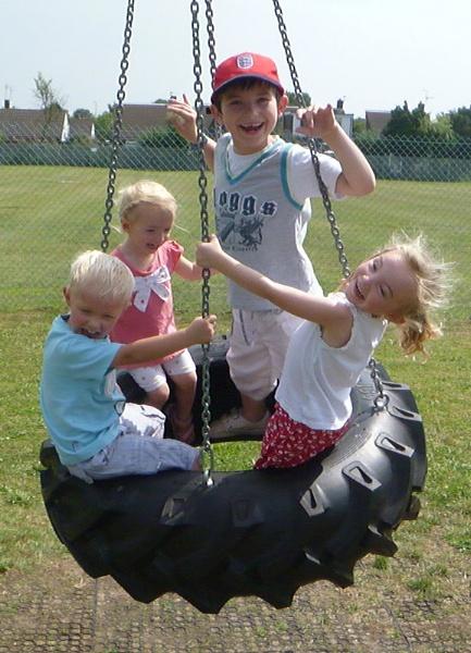 \'Tyre Swing Grandkiddie Fun\' by sakisuki