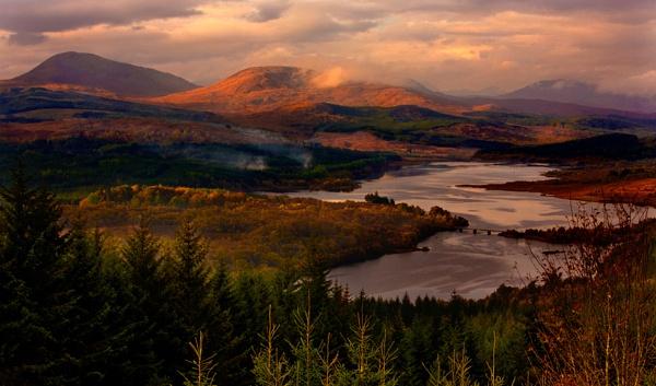 Crossing at Loch Cluanie .  Scotland by BevHadland