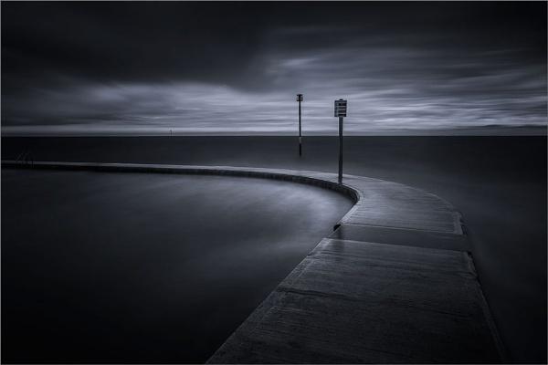 Margate Seafront Tidal Pool Mono by derekhansen