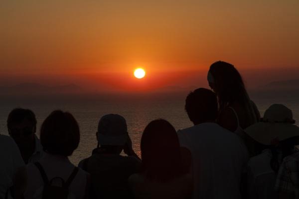 Sunset in Santorini by Irishkate