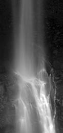 Black White Waterfall