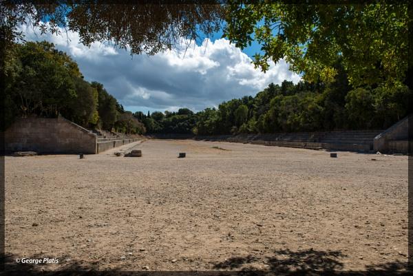 Ancient stadium of Rhodes by GeorgePlatis