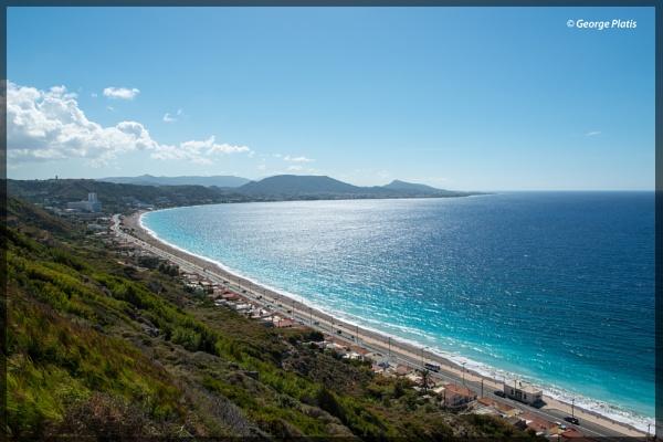Northwest coastline of Rhodes by GeorgePlatis