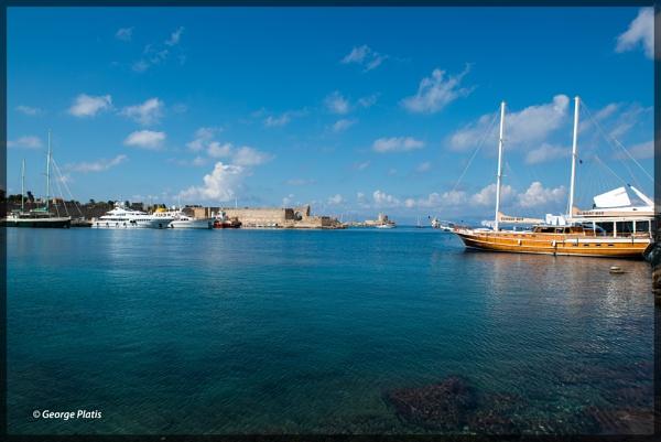 Harbor of Rhodes by GeorgePlatis