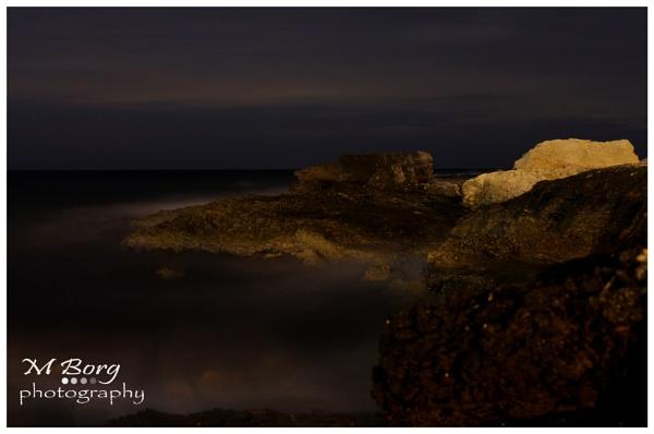 sea shore at night by Sgtborg