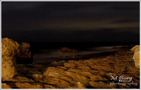 sea shore at night 3 by Sgtborg