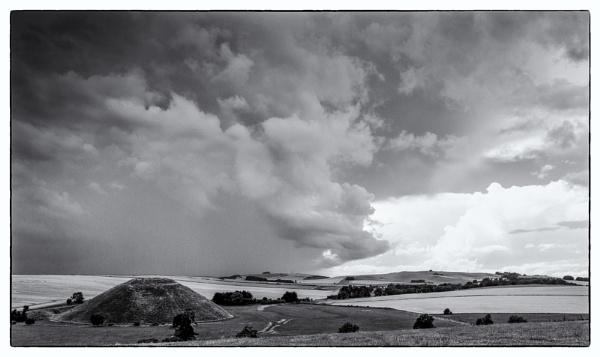 Silbury Hill, gathering storm by allan47
