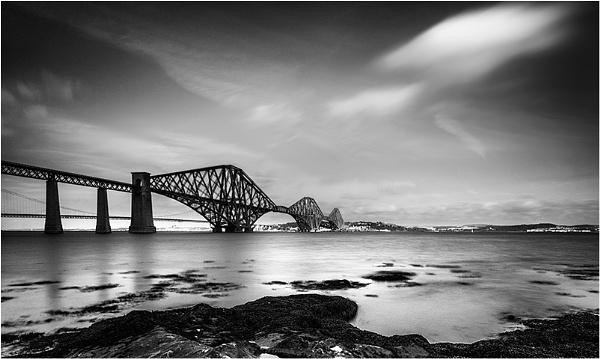 Forth Rail Bridge Mono by Baz72