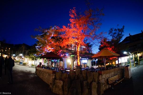 Whistler Village at Night by Swarnadip